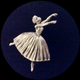 1940's Silver Ballerina Brooch - Ballet Dancer Pin -Swan Lake  (SOLD)